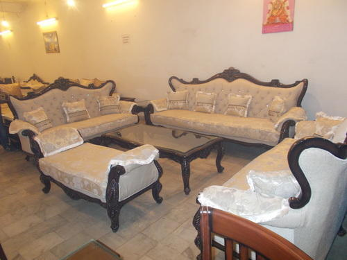 Beau White Sofa Set