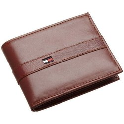 PU Leather Mens Brown Wallet