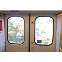 Transparent Plain Train Door Glass, Thickness: 5-10 Mm