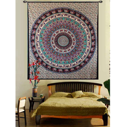 Elephant Printed Mandala Hippies Tapestries
