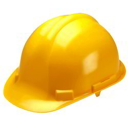 Omkar PVC Yellow Safety Helmet, For Construction, Packaging Type: Box