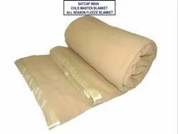Cold Master-Plain Fleece Blanket with Textile Satin Border