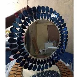 Round Decorative Antique Glass Mirror, For Home, Size: 27 X 27 Inch