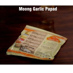 Chandra Vilas Pale Yellow Moong Garlic Papad, Packaging Type: Packet, Packaging Size: 25-28 Piece