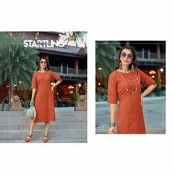 Straight Cotton Kurtis