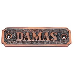 Damas Brass Sign