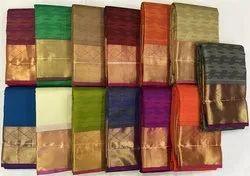 Kancheepuram Silk Festive Wear Arni Silks Sarees, 6.3 m (With Blouse Piece)
