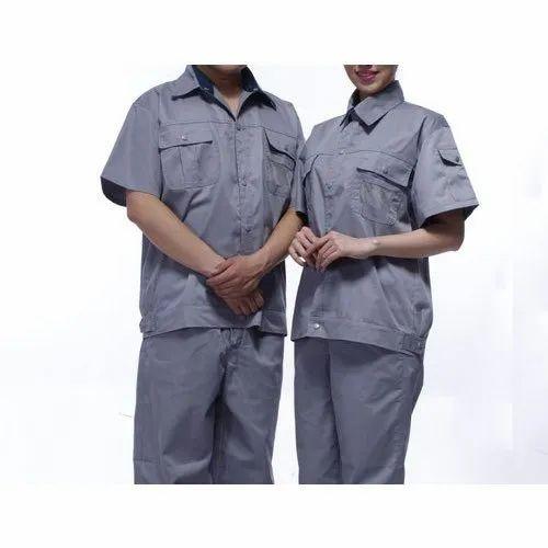 Cotton Grey Factory Workers Uniform, Rs 300 /set Jai Ganesh Garments | ID:  21753144112