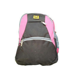 Polyester Plain Backpack School Bag