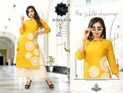 Rayon Anarkali Double layers kurti
