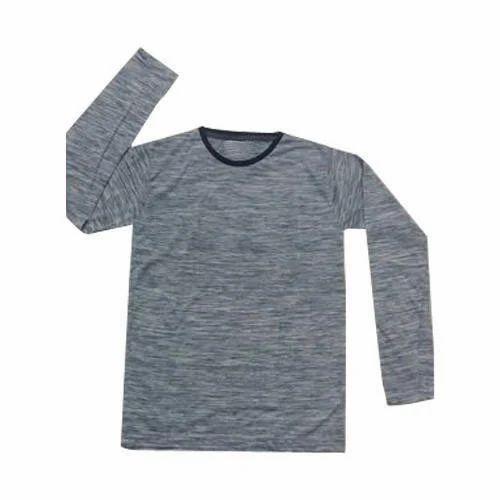 fb79e2e0 Mens Cotton Full Sleeve Grey T Shirt, Size: M - XXL, Rs 400 /piece ...