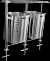 SS Twin Square Bin with Pole