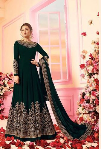 6f72c6280db Latest Fancy Faux Georgette Embroidered Anarkali Salwar Suit at Rs ...