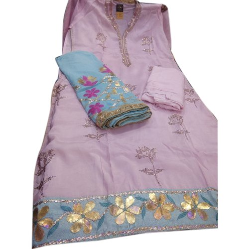 Rayon Ladies Party Wear Embroidered Suit