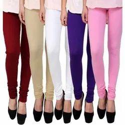 Churidar Plain Ladies Lycra Leggings