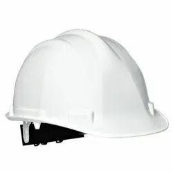White PVC Safety Helmet For Construction, Size: S, M, L