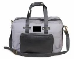 Mon Exports Waxed Canvas and Genuine Leather Travel Bag