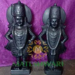 Marble Vitthal Rukmani Statue