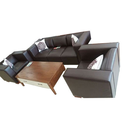 Black And Office Reception Sofa Set