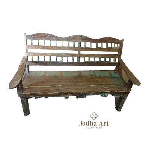 Cool Reclaimed Wooden Furniture Indian Wooden Bench Pabps2019 Chair Design Images Pabps2019Com