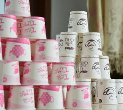65 ml Single Or Two Colours Paper Cup