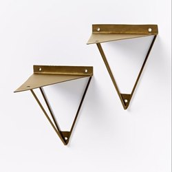 Iron Gold Plated wall bracket, Size: 10 Cm
