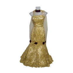 Girls Beige Color Indo Western Dress