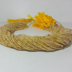 Natural Golden Rutile Quartz Micro Faceted Beads Strand 2mm