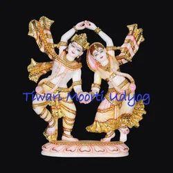 Marble Dancing Radha Krishna Statue