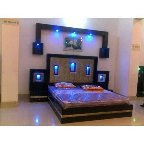 Alonza Contemporary Bed With LED Lighting Source Led Light Double At Rs 40000 Piece ID 16239956548