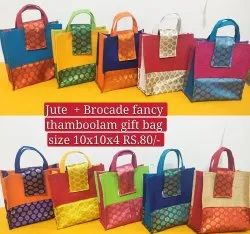 Jute And Brocade Thamboolam Bag