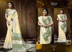 Ethnic Stylish Grey Designer Plain Saree