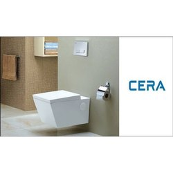 White Ceramic CERA Wall Hung EWCS Sanitary Ware