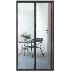 Black Mosquito Net Door