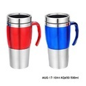 Stainless Steel Insulated Travel Mug with Sipper Lid -MUG-17