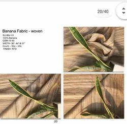 Plain Banana Woven Natural Fabric, GSM: 110
