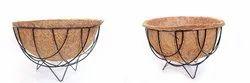COIR GARDEN Gardening Flower POTS with Coir Floor Basket and Liner - 8 INCH