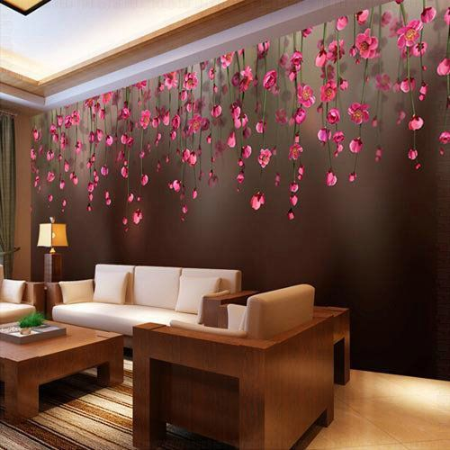 Designer Wallpaper Ideas Photos: Living Room Designer Wallpaper At Rs 100/square Feet
