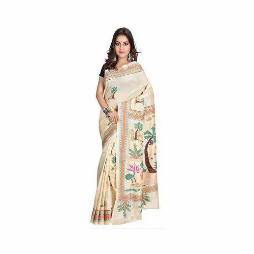 8670335a67c Tussar Silk Saree - Pure Tussar Silk Saree With Nakshi Kantha ...