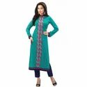 Cotton/linen Full Sleeve Ladies Kurti