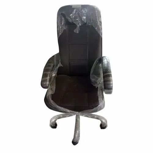 Leather Black Decorative Office Revolving Chair Rs 4500 Unit Id 21544993062