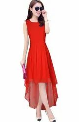 Red Georgette Exclusive Designer Frock