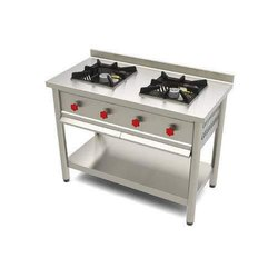 Stainless Steel Two Burner Gas Range