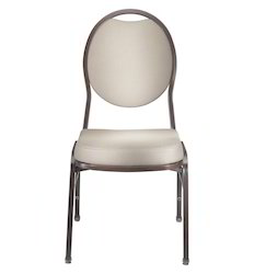 Aluminum Stacking Chair, Size: 450 x 520 x 930 mm