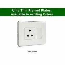 Plastic Eco White Toyoma Modular Electric Switch, 5A, 220-415V