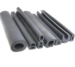 Black Extruded Rubber Profile