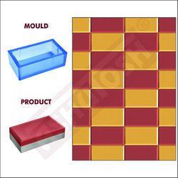 PVC Moulds For Paver Block - Brick 60mm Sand