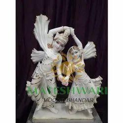 White Radha Krishna Traditional Statue
