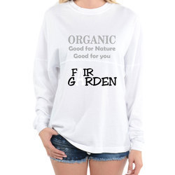 White Full Sleeves T-Shirt