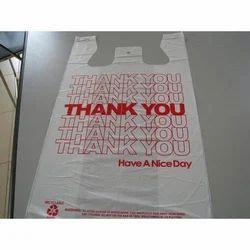 White Printed Plastic Bag